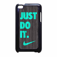Nike Just Do It Wood Colored Darkwood Wooden Fdl iPod Touch 4th Generation Case