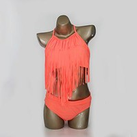 Pretty Bikini Set HELLO BEACH Women's Swimming Suit Fringe Bikini Sexy Bathing Suit Biquini Long Tassel Swimwear Plus Size s Large Size KO_24_2