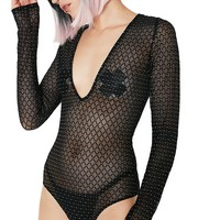 In The Zone Sheer Bodysuit