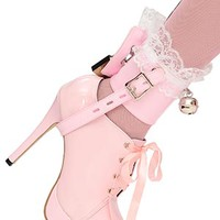 Captive Frilly Bell Shoe-locks (pair) [bon131] - £52.38 : The Fantasy Store, Sexy Fantasywear!