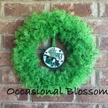 10% off Green St. Patrick's Day Bottle Cap Wreath