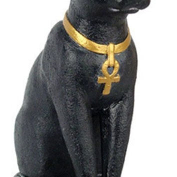 Bastet Egyptian Cat Statue 7H, Assorted Colors