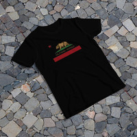 "THE SAMPLE size of the print image on the T-Shirt 10""x10"" California Republic Flag"