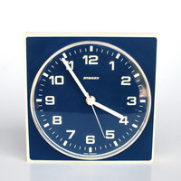 Modern Vintage Wall Clock, Blue / White by Staiger , 70's Germany