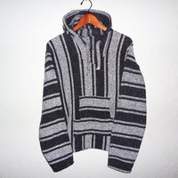 Vintage 90s Drug Rug Baja Sweater - large -