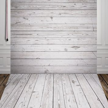 HUAYI Grey Wood Backdrop  Photography  Background Art Fabric Newborn Backdrop  children Photography Props photo Studio  D-7585