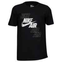Nike Graphic T-Shirt - Boys' Grade School - Short Sleeve - Boys' Grade School - Casual - Nike - Clothing - Black/White | Air Stagger | Kids Foot Locker