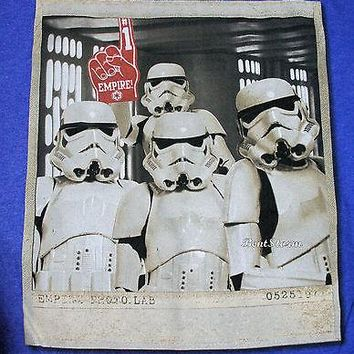 Licensed cool NEW Disney Star Wars Stormtrooper #1 Empire Photo Lab Blue Men's XL Tee Shirt T