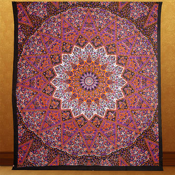 large star tapestry mandala psychedelic  tapestry hippie wall hanging bohemian boho bedding throw bedspread ethnic home decor art