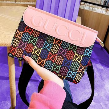 MCM Colorful Stra Double G Print Jumping Candy Cross Body Bag