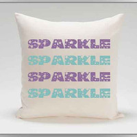 Personalized, Custom, Handmade, Sparkle design, 14 x 14 envelope style throw pillow cover, throw pillow, cover