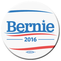BERNIE SANDERS WHITE BUTTON