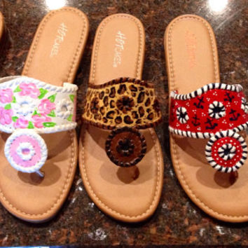 Jack Rogers inspired sandals.
