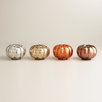 Mercury Glass Pumpkin Tealight Candleholders, Set of 4 - World Market