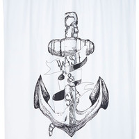 ModCloth Nautical Wade for It Shower Curtain