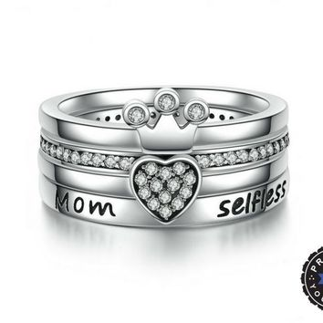 """Heart of a Queen"" Stackable Ring"