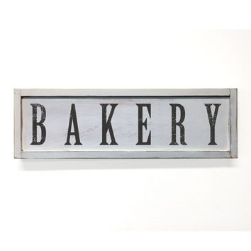 Bakery Floater Frame Wall Art Sign White, 24x7