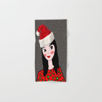 Christmas with you | Kids Painting | Only Love by Elisavet Hand & Bath Towel by Azima