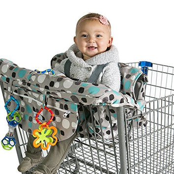 Kiddlets Shopping Cart & High Chair Cover for Baby, Includes Carry Bag, Machine Washable