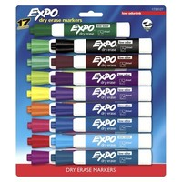 Expo 17ct Chisel Tip Dry Erase Markers - Assorted Colors