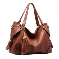 Fashion Tassels Solid Color Shoulder Messenger Bag
