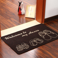 Floor MATS Brand Kitchen Carpet Toilet Tapete Water Absorption Non-slip Rugs Porch Doormat Para Quarto Casa  WXT768