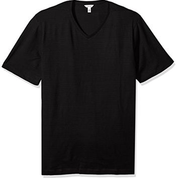 Calvin Klein Men's Big and Tall Short Sleeve Slub V-Neck T-Shirt