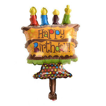 Hot Happy Birthday Mini Chocolate Cake Balloon Foil Balloons for Party Supplies