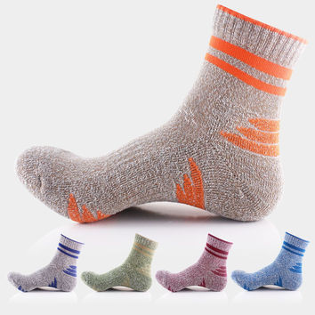 Hot Deal On Sale Men Sports Socks Outdoors Quick Dry Basketball 5pairs/set [10383529996]