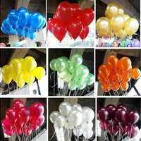 100Pcs  Helium Latex Balloons For Party Wedding Birthday  [7983358151]