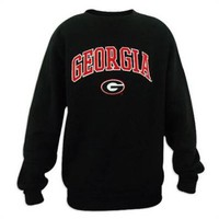 Georgia Bulldogs Genuine Stuff Mens Black Crewneck Sweatshirt