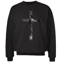 Cross Crewneck: Custom Unisex Hanes Crewneck Sweatshirt - Customized Girl