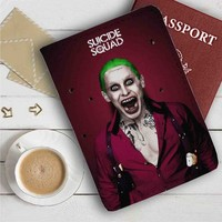 Suicide Squad Movie The Joker Leather Passport Wallet Case Cover