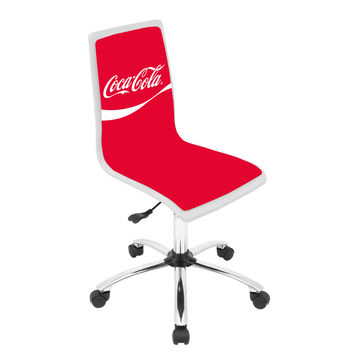 Lumisource Coca-Cola® Printed Office Chair in white/red