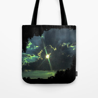 Through the Light Tote Bag by ES Creative Designs