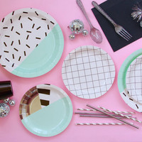 Aesthetic Confetti Party Plates