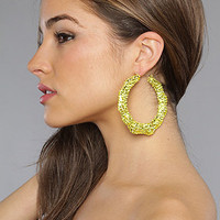The Swarovski Bamboo Earring in Neon Yellow : Melody Ehsani : Karmaloop.com - Global Concrete Culture