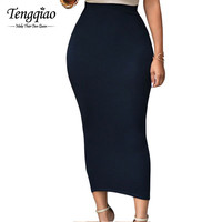 Casual  Long  Skirt Black High Waist Long Tight Maxi Skirts For Maxi Pencil Long Skirt High Waist