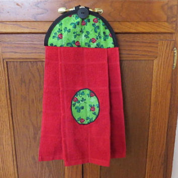 Kitchen Towel, Hanging Dish Towel, Tie Towel,Hanging Tea Towel, Hanging Hand Towel
