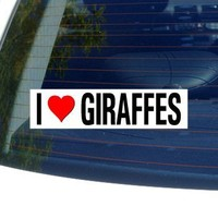 I Love Heart GIRAFFES - Window Bumper Sticker:Amazon:Automotive
