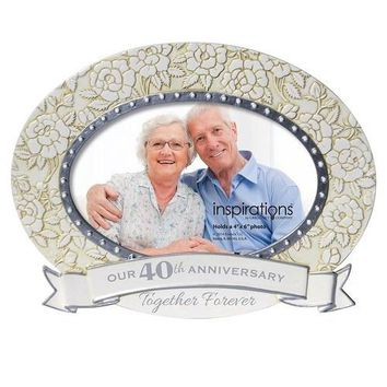 Enesco 40th Anniversary Oval Picture Frame