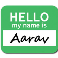 Aarav Hello My Name Is Mouse Pad
