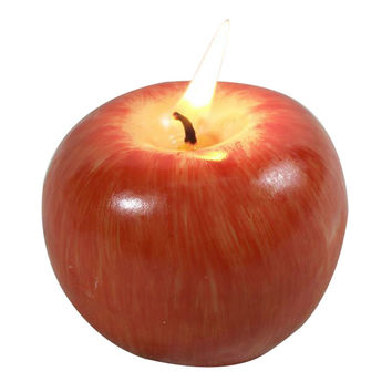Apple Shaped Fruit Candle Home Decoration Novelty Gift Wedding Christmas Red