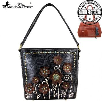 MW283G-916 Montana West Tooled Concealed Handgun Collection Handbag