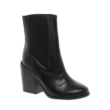 ASOS ALPHABET Leather Chelsea Ankle Boots
