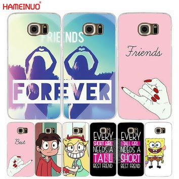 HAMEINUO best friend forever lovers couple cell phone case cover for Samsung Galaxy S7 edge PLUS S8 S6 S5 S4 S3 MINI