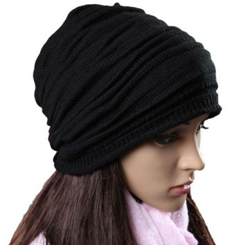 Unisex Winter Hats Knitted Beanie Warm Hats Women Men Punk Hip-Hop Crochet Hats Touca Inverno#A12