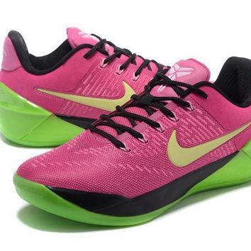 nike kobe a d ep pink green basketball shoe size us5 5 12  number 6