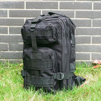 Tactical Camouflage Backpack Military Men 3-Pocket Hydration Assault Pack Travel Hiking Equipment Portable Heavy Duty Bag