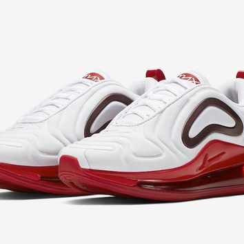 HCXX 19Aug 729 Nike Air Max 720 Releasing in White and Gym Red CD2047-100 Sports Sneaker Fashion Running Shoes